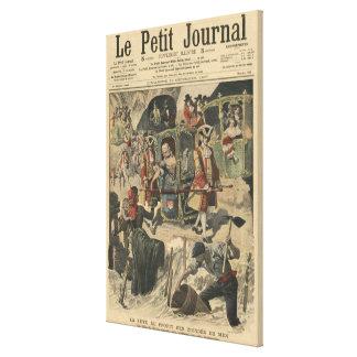 Celebration given by the Ville of Paris Canvas Print