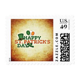 Celebration Hat Boots Happy St Patrick's Day Stamp