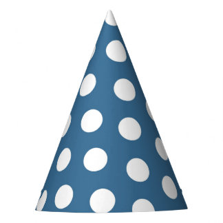 Celebration in Shabby Chic White Polka Dots Party Hat