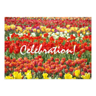 Celebration Invitaions End of Year Party Tulips Personalized Invite