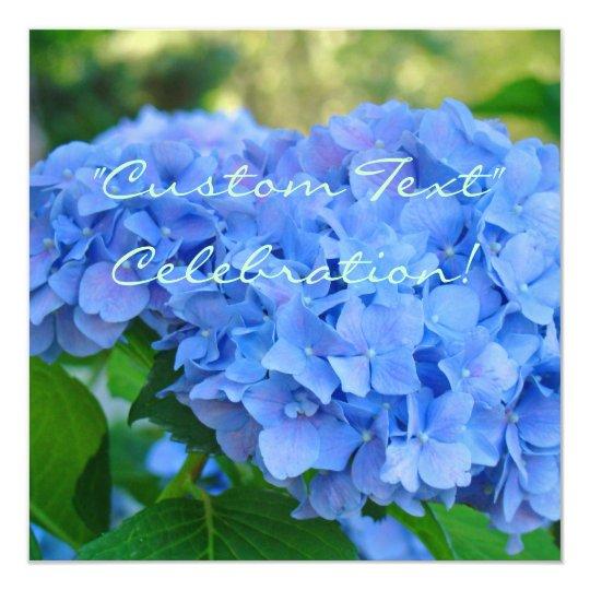 CELEBRATION! Invitation Cards Blue Hydrangea
