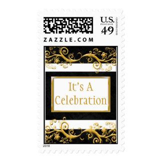 Celebration Invitation Postage Stamps