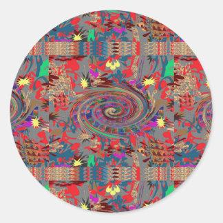 Celebration JOYFUL Energy Spiral Twilight Twister Classic Round Sticker