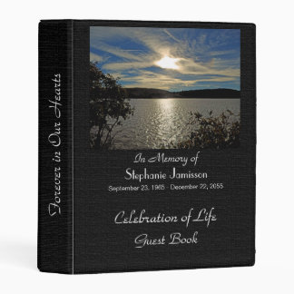 Celebration Life Guest Book Sunset Kolob Reservoir Mini Binder