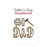 "Celebration of Fatherhood BBQ 5"" X 7"" Invitation Card"
