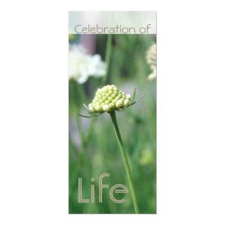 Celebration of Life 2 - Floral Landscape - 4x9.25 Paper Invitation Card
