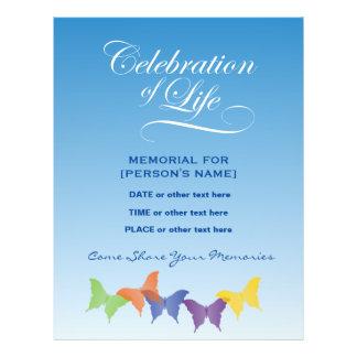 Celebration of Life Butterflies Invitation Flyer
