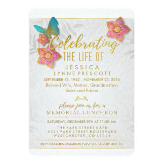 Celebration of Life Butterfly Luncheon Invite
