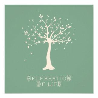 Celebration of Life - Custom - Elegant Tree Motif Custom Invite