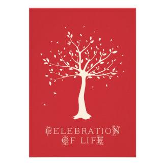 Celebration of Life - Custom - Elegant Tree Motif Invite