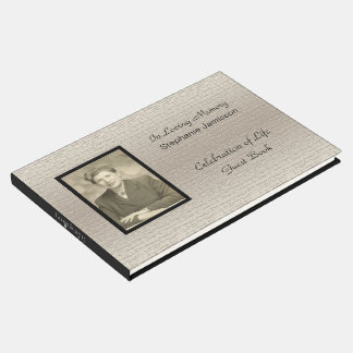 Celebration of Life, Elegant Silver With Photo Guest Book
