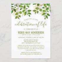 Celebration of Life | Funeral Memorial Nature Invitation