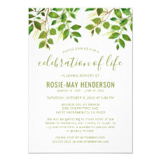 Celebration of Life | Funeral Memorial Nature Invitation