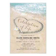 Celebration of Life | Funeral Memorial Ocean Invitation
