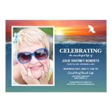 Celebration of Life | Funeral Memorial Photo Invitation