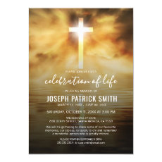 Celebration of Life | Funeral Memorial Religious Invitation