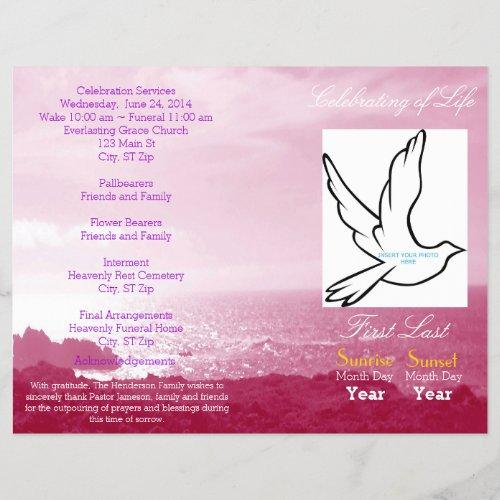 Celebration of Life Funeral Program_single fold