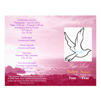 Celebration of Life Funeral Program-single fold Flyer