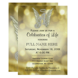 Celebration of Life - Gold Bokeh Card