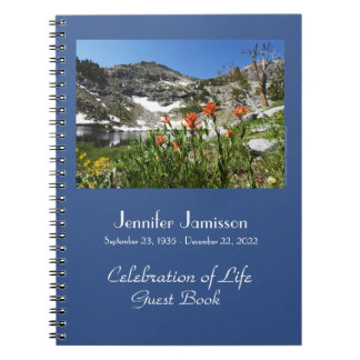 Celebration of Life Guest Book Alpine Wildflowers