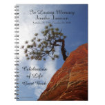 Celebration of Life Guest Book Bonsai Tree in Zion Notebook