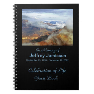Celebration of Life Guest Book, Canyon Clouds Notebook