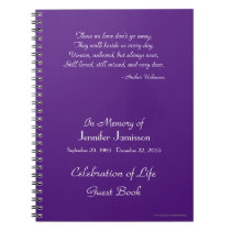 Celebration of Life Guest Book CHOOSE YOUR COLOR