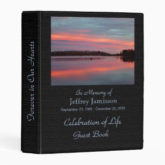 Celebration of Life Guest Book Fisherman at Sunset Mini Binder