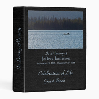 Celebration of Life Guest Book, Fishermen Mini Binder