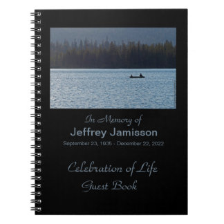 Celebration of Life Guest Book, Fishermen Notebook