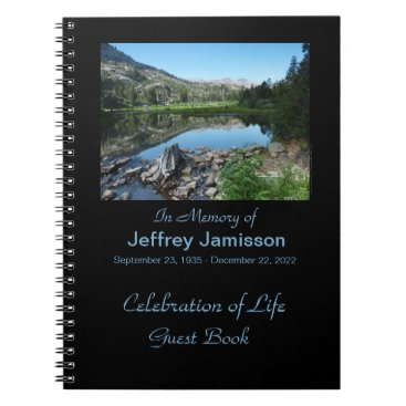 celebration Celebration of Life Guest Book, Reflection in Lake Notebook