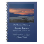 Celebration of Life Guest Book, Sunset at Dunes Spiral Notebook