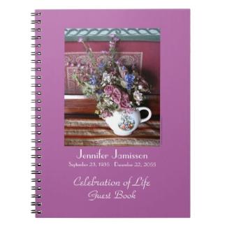 Celebration of Life Guest Book, Vintage Teapot