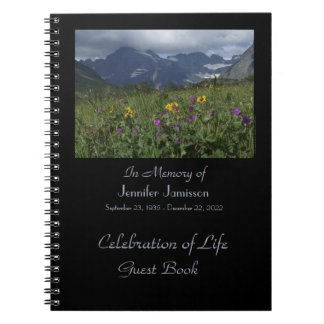 Celebration of Life Guest Book Wildflowers Glacier