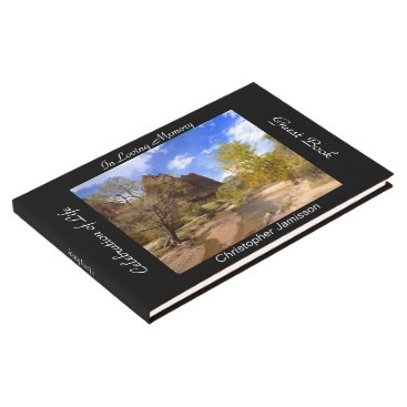 USA Themed Celebration of Life Guest Book, Zion National Park Guest Book