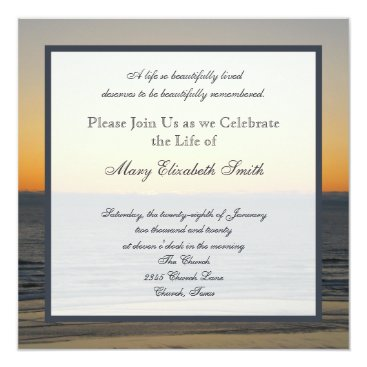 Beach Themed Celebration of Life Invitation