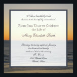 "Celebration of Life Invitation<br><div class=""desc"">This gorgeous sunset makes a stunning Celebration of Life invitation. The words &quot;A life so beautifully lived deserves to be beautifully remembered&quot; appear at the top with a place for you to personalize the invitation with your loved ones name and celebration of life details. A truly beautiful Celebration of Life...</div>"