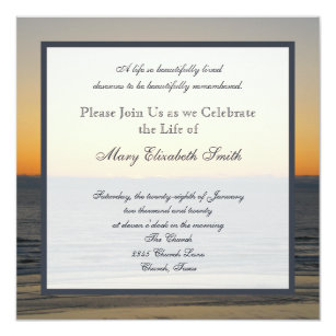 Death Invitations Zazzle