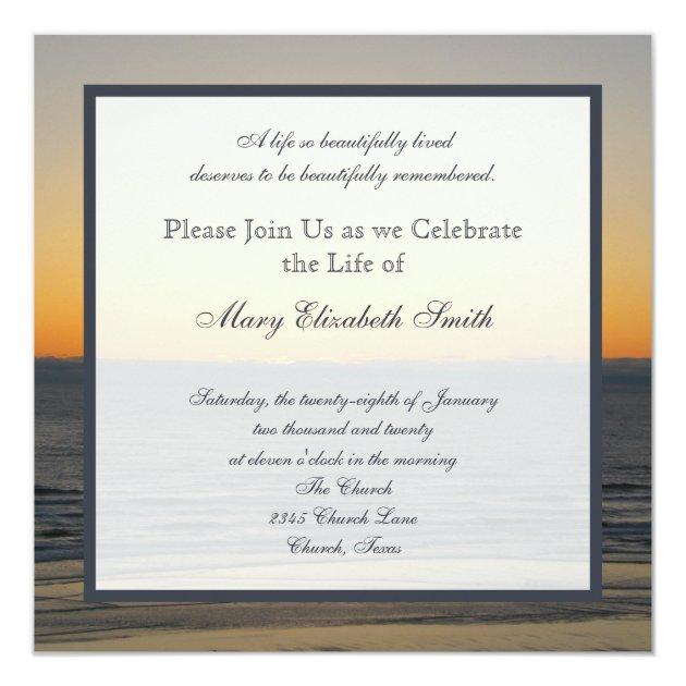 Celebration Of Life Invitation Zazzle