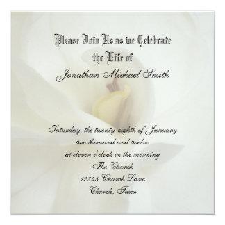 "Celebration of Life Invitation 5.25"" Square Invitation Card"