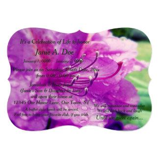 "Celebration of Life 5"" X 7"" Invitation Card"