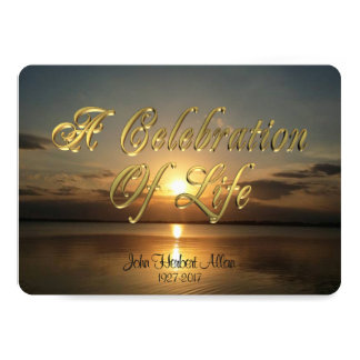 Celebration of life Invitation