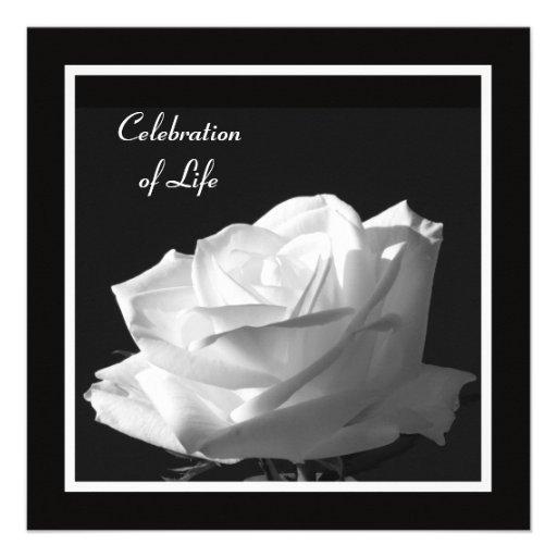 Personalized Celebrate A Life Invitations | Custominvitations4U.Com