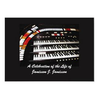 Celebration of Life Invitation Antique Organ