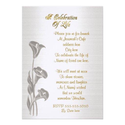 free celebration of life program template - memorial invitations celebration of life party
