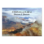Celebration of Life Invitation, Canyon Clouds Invites