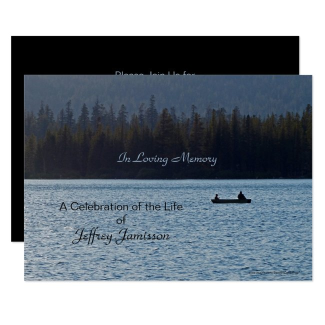Celebration of Life Invitation, Fishermen