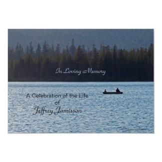 Celebration of Life Invitation, Fishermen Card