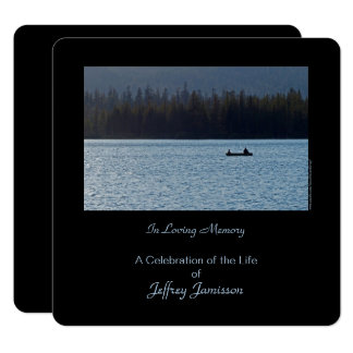 Celebration of Life Invitation, Fishermen, Square Card