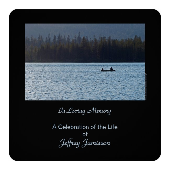 Celebration of Life Invitation, Fishermen, Square